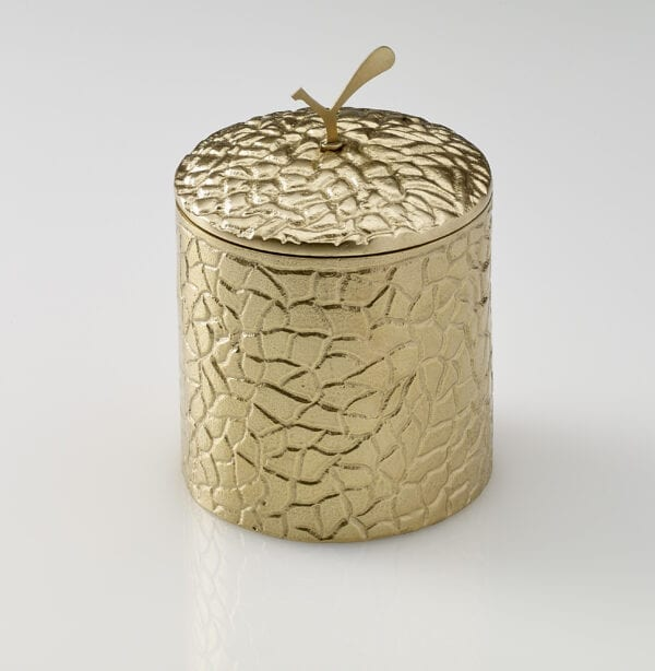Spry Candles - Gold Collection Medium Candle Holder with Lid on