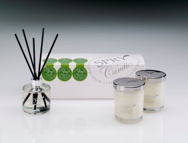Zing Uplifting Citrus Gift Set - Duo Candle & 50ml Clear Diffuser-0