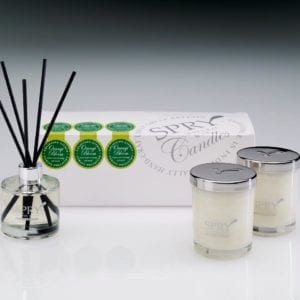 Orangi Bloom Uplifting Citrus Gift Set - Duo Candle & 50ml Clear Diffuser-0