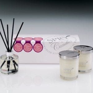 Persian Rose Mesmerising Florals Gift Set - Duo Candle & 50ml Clear Diffuser-0