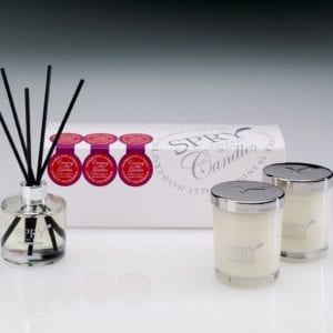 Evening In The Garden Mesmerising Florals Gift Set - Duo Candle & 50ml Clear Diffuser-0