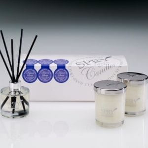 Heaven Scent Enigmatic Musks Gift Set - Duo Candle & 50ml Clear Diffuser-0