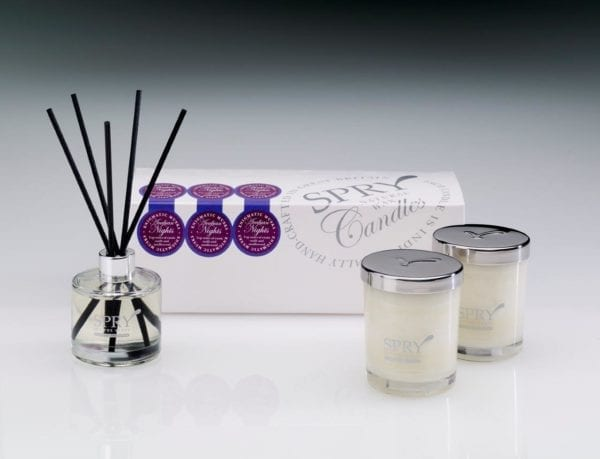 Arabian Nights Enigmatic Musks Gift Set - Duo Candle & 50ml Clear Diffuser-0